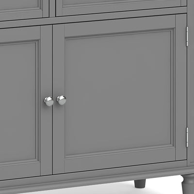 Mulsanne Grey Small Sideboard - Close Up of Cupboard