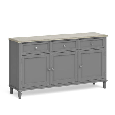 Mulsanne Grey Large Sideboard by Roseland Furniture