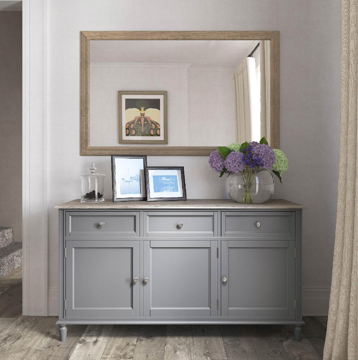 Mulsanne Grey Large Sideboard - Lifestyle