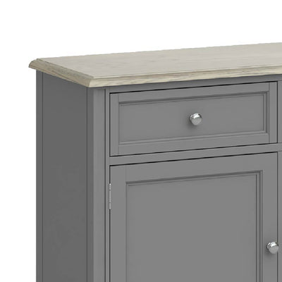 Mulsanne Grey Large Sideboard - Close Up of Drawer