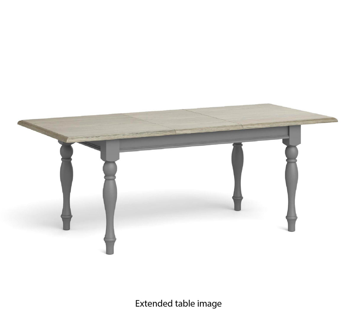 Mulsanne Grey Compact Extending Dining Table - Extended