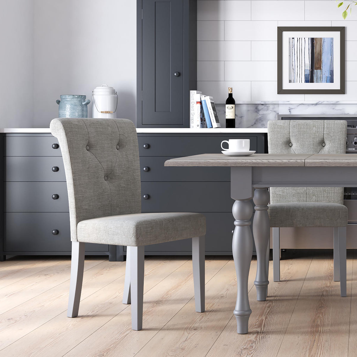 Mulsanne Grey Small Extending Table