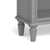 The Mulsanne Grey Small Low Bookcase - Close Up of Feet
