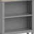 The Mulsanne Grey Small Low Bookcase - Close Up of Shelves