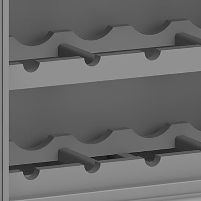 The Mulsanne Grey Wine Unit Cabinet - Close Up of Wine Racks
