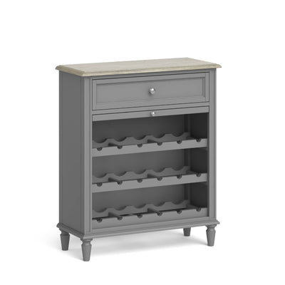 The Mulsanne Grey French Style Wine Unit by Roseland Furniture