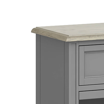 The Mulsanne Grey Wine Unit Cabinet - Close Up of Top Corner