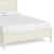 The Muslanne Cream 5' King Size Bed Frame - Close Up of Base of Bed