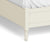 The Muslanne Cream 5' King Size Bed Frame - Close Up of Feet of Bed