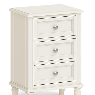 The Mulsanne Cream French Style Bedside Table with 3 Drawers - Close Up of Drawers