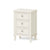 The Mulsanne Cream French Style Bedside Table with 3 Drawers