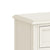 The Mulsanne Cream French Style Bedside Table with 3 Drawers - Close Up of Bedside Top