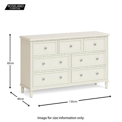 Dimensions - Mulsanne Cream 3 Over 4 Chest of Drawers
