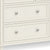 Mulsanne Cream 3 Over 4 Chest of Drawers - Close Up of  Lower Larger Drawers