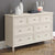 Mulsanne Cream 3 Over 4 Chest of Drawers - Close Up of Lifestyle