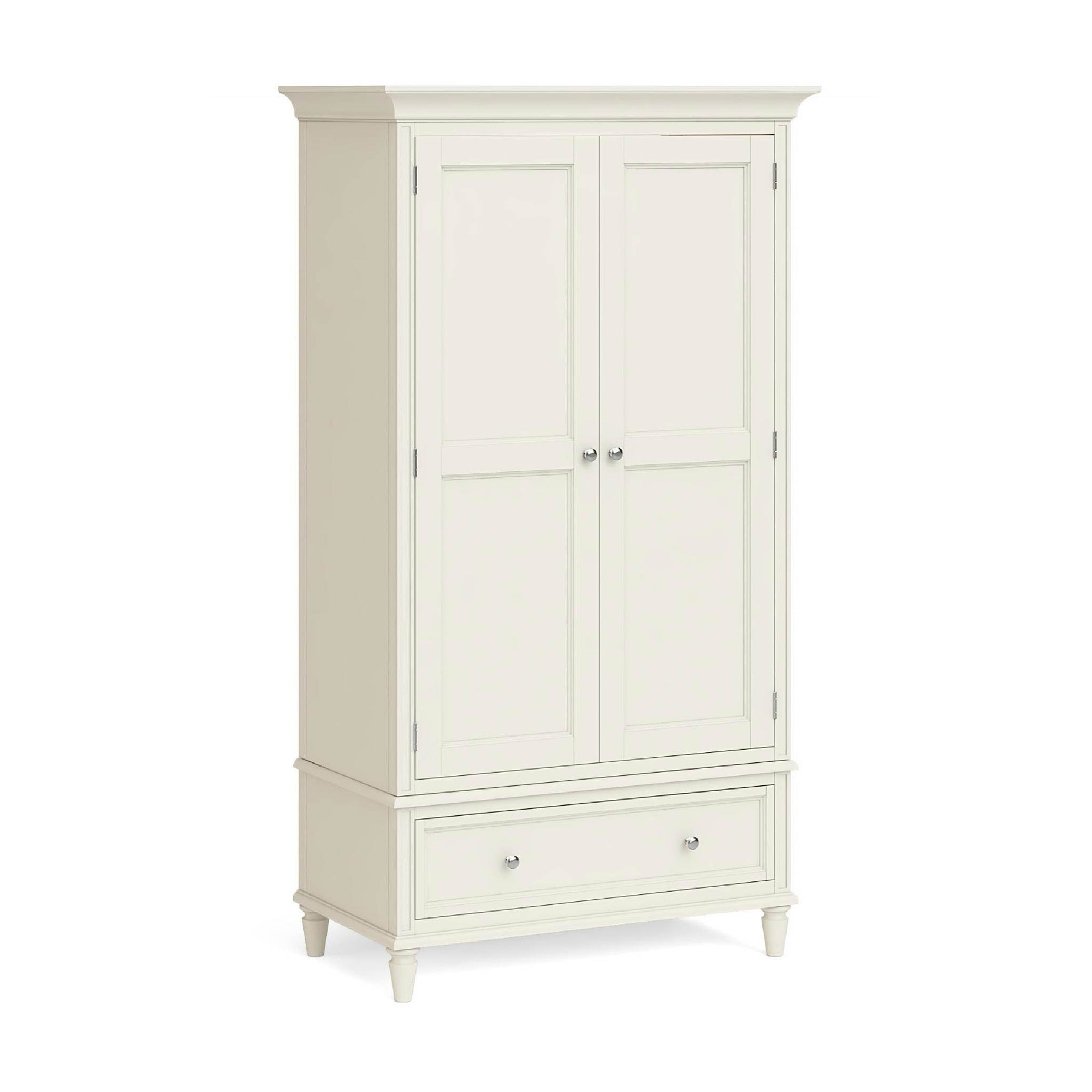 Mulsanne Cream Double Wardrobe with Drawer by Roseland Furniture