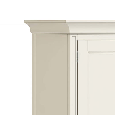 Mulsanne Cream Double Wardrobe with Drawer - Close Up of Top Corner