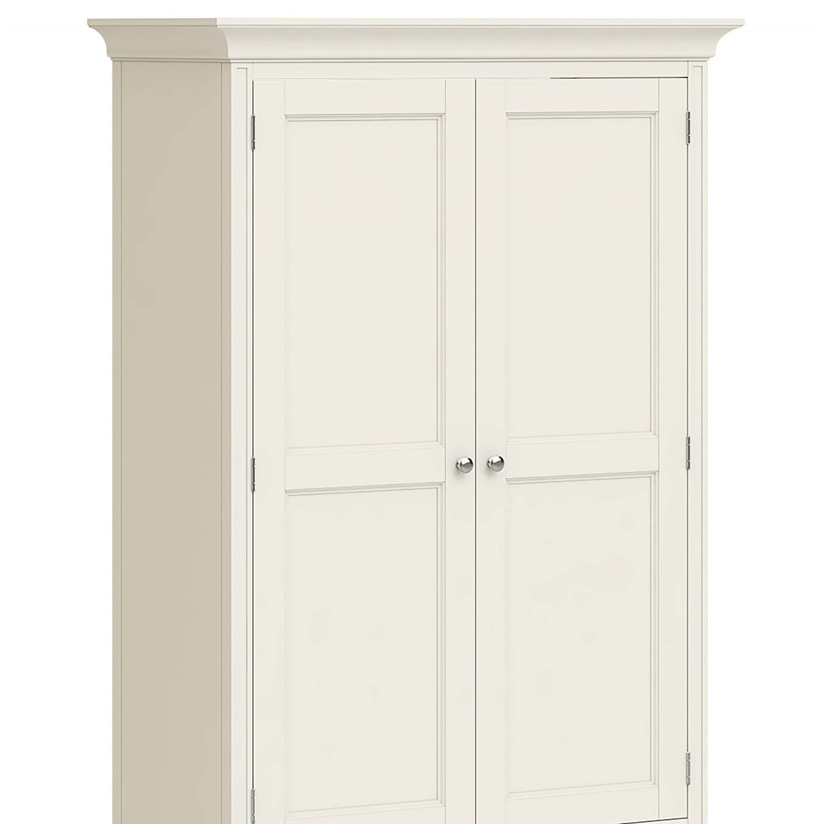 Mulsanne Cream Double Wardrobe with Drawer - Close Up of Wardrobe Doors