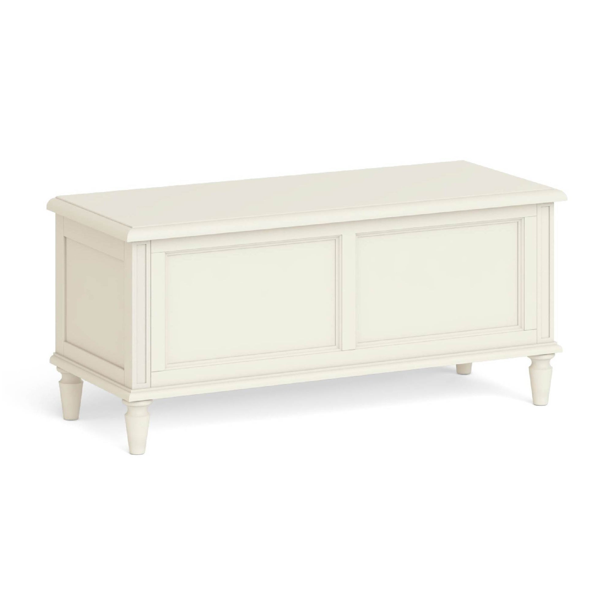 Mulsanne Cream Painted Ottoman Blanket Box