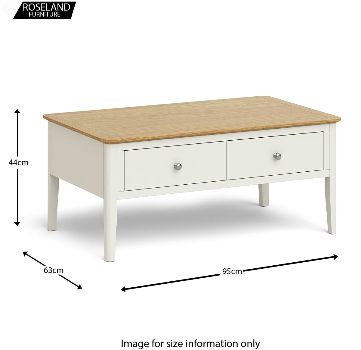 Windsor Cream Coffee Table Size Guide