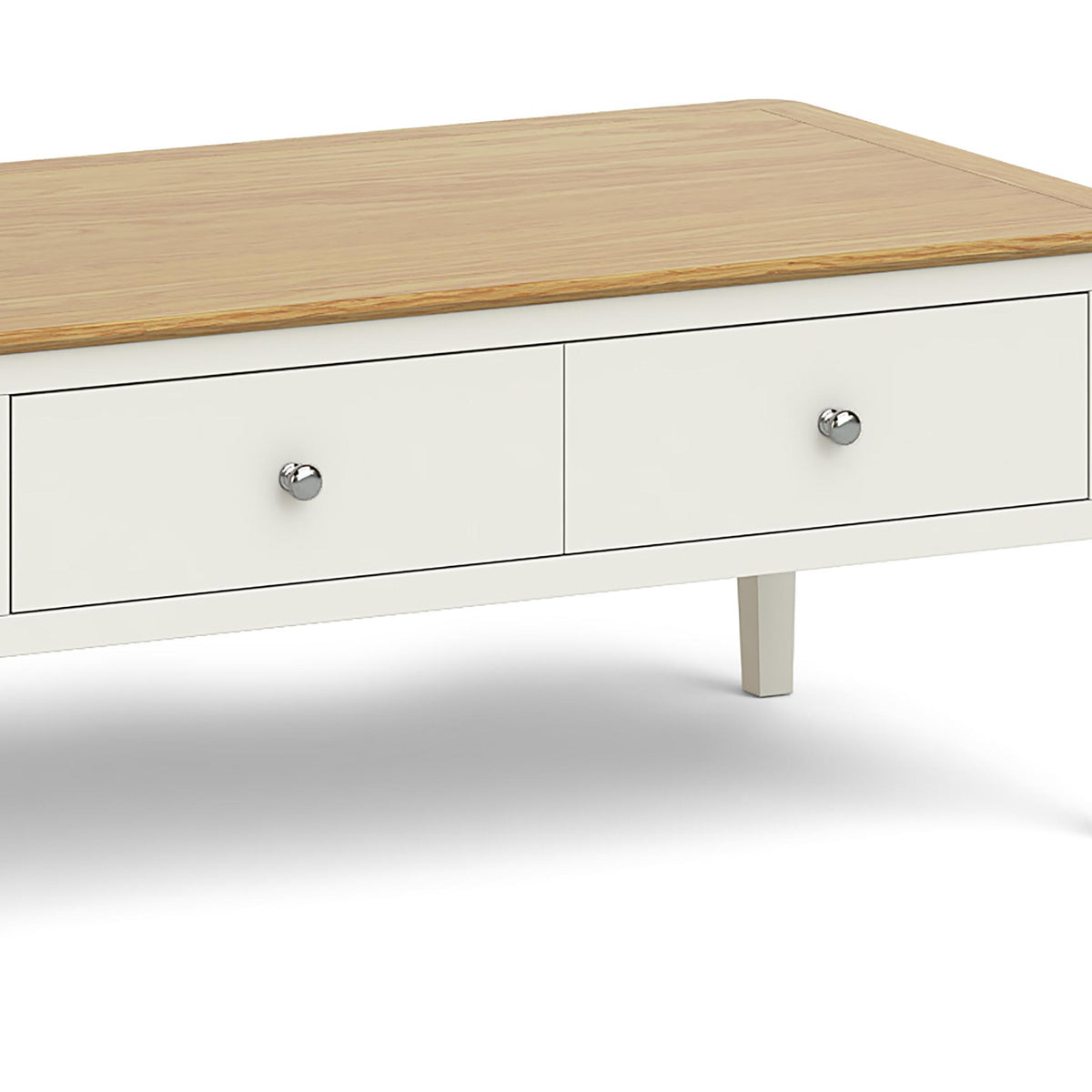 Windsor Cream Coffee Table - Close Up of Drawer