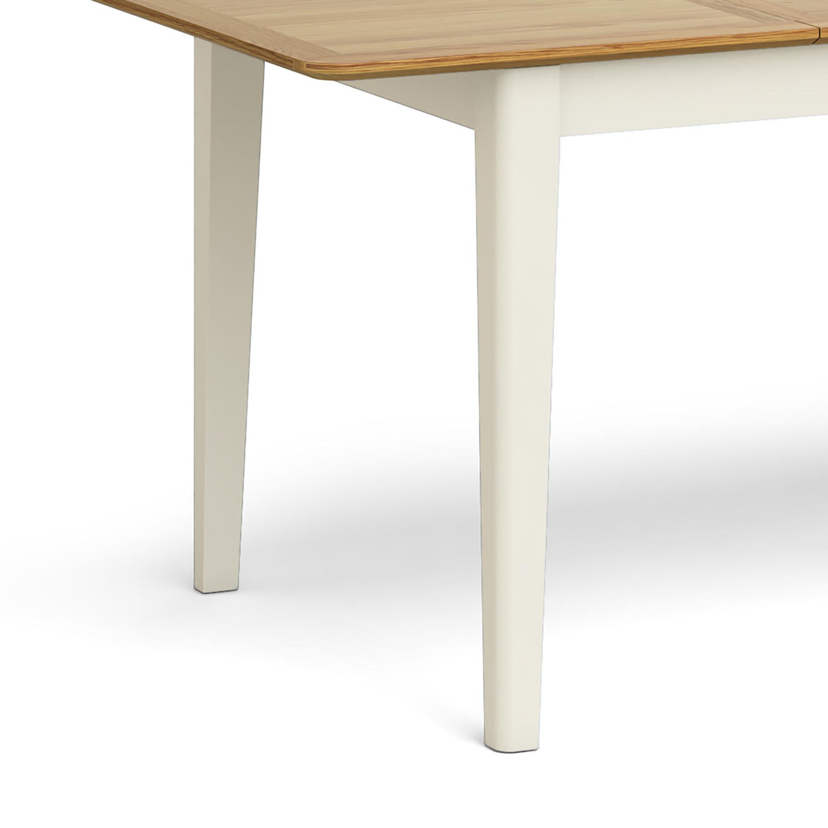 Windsor Cream Compact Extending Table - Close Up of Table Legs