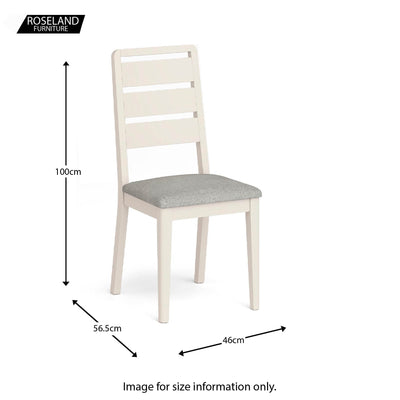 Windsor Cream Dining Chair - Size Guide