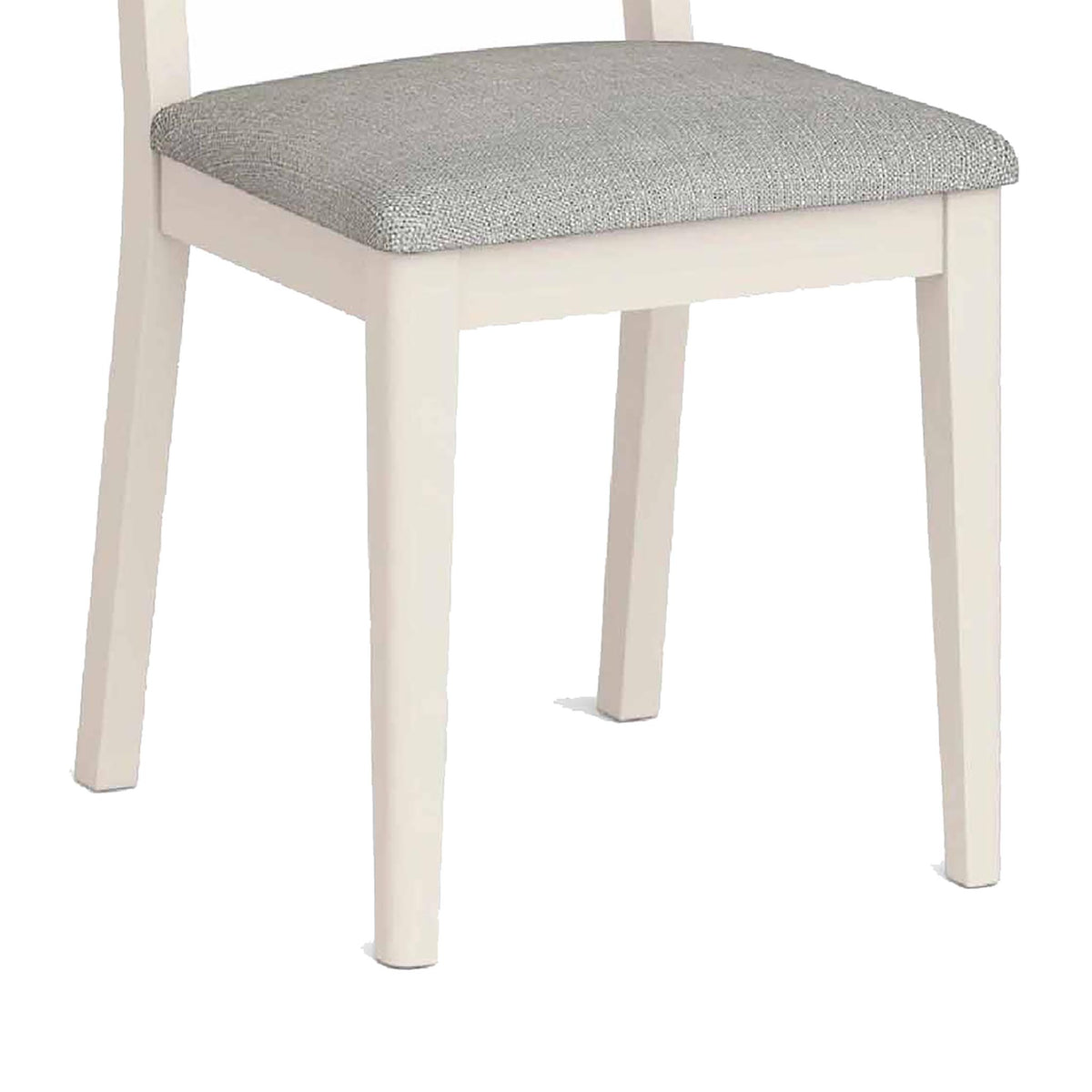 Windsor Cream Dining Chair - Close Up of Chair Legs and Padded Seat