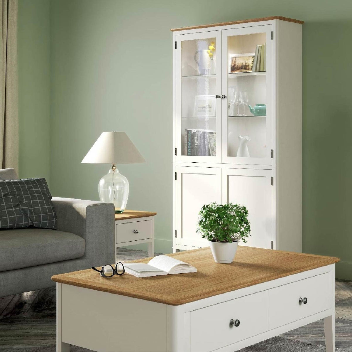 Windsor Cream Display Cabinet lifestyle view
