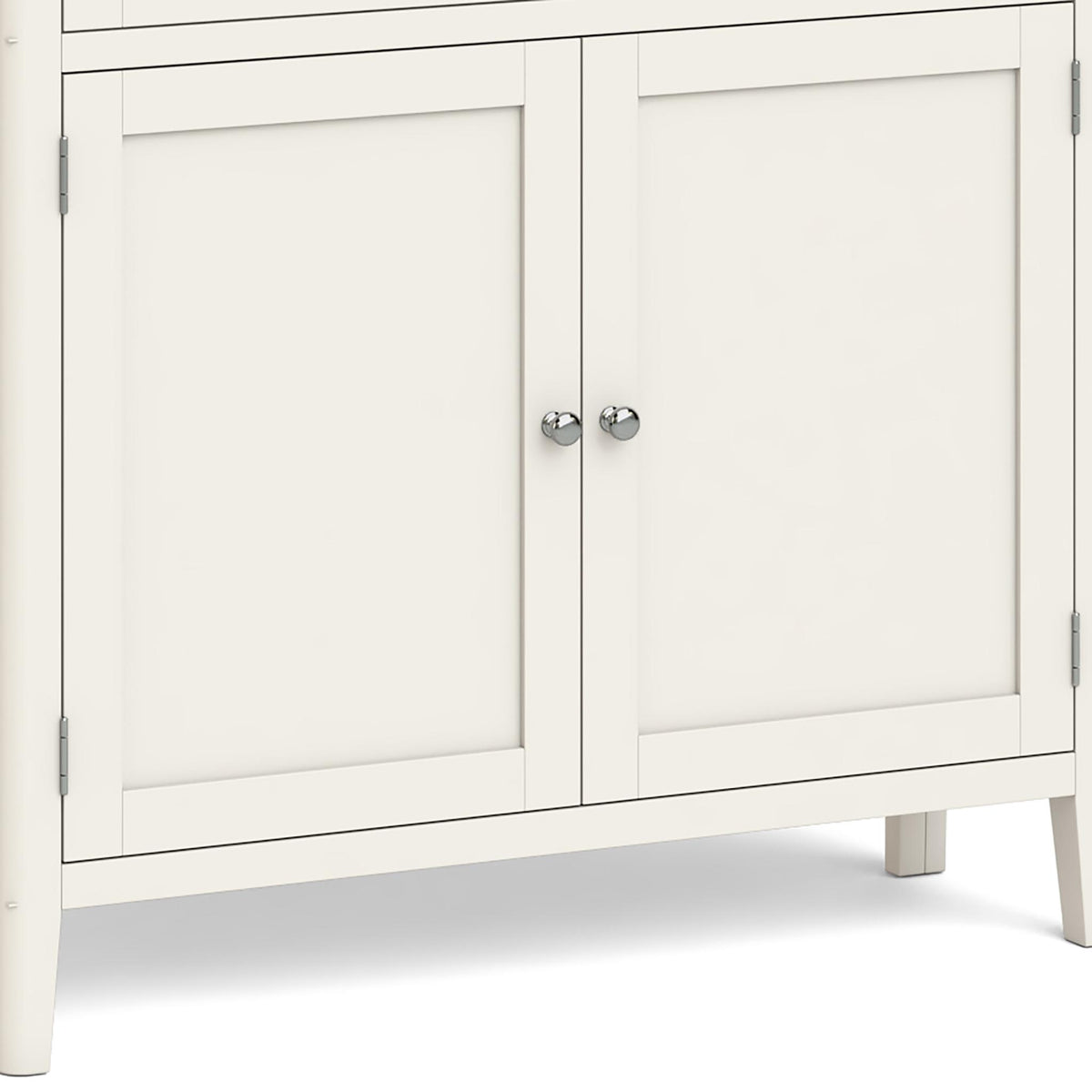 Windsor Cream Display Cabinet - Close Up of Lower Cupboard