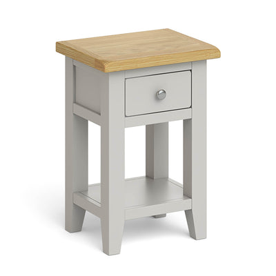 Lundy Grey Lamp Table by Roseland Furniture