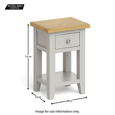 Dimensions - Lundy Grey Lamp Table