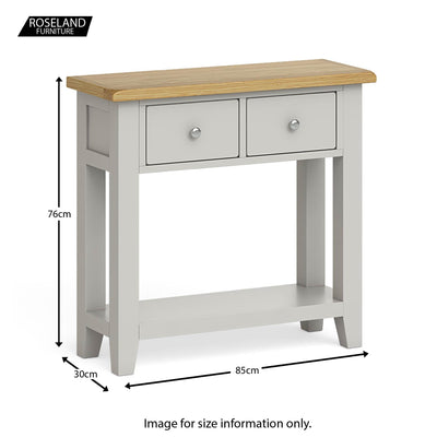 Dimensions - Lundy Grey Console Table