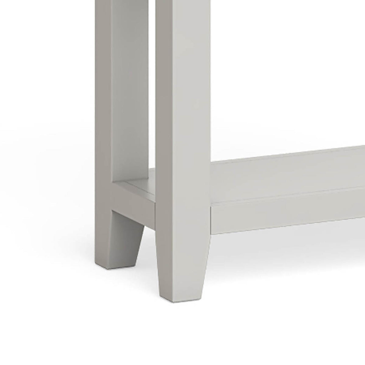 Lundy Grey Console Table - Close Up of Legs of Unit