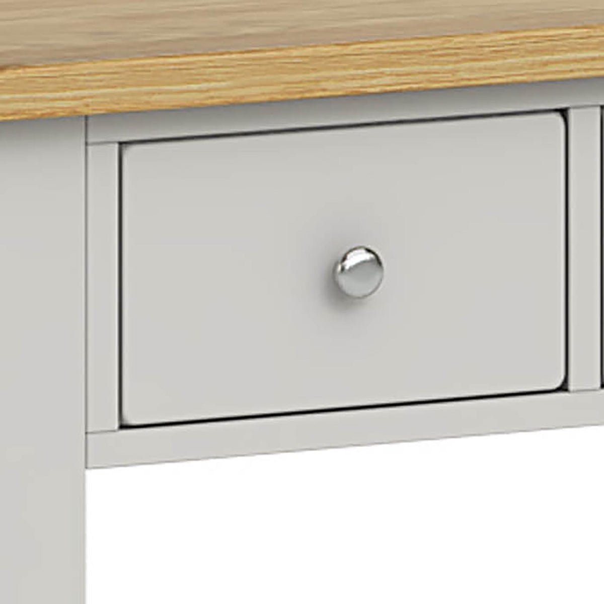 Lundy Grey Console Table - Close Up of Drawer