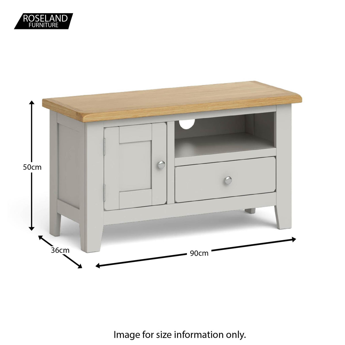 Dimensions - Lundy Grey Small TV Stand