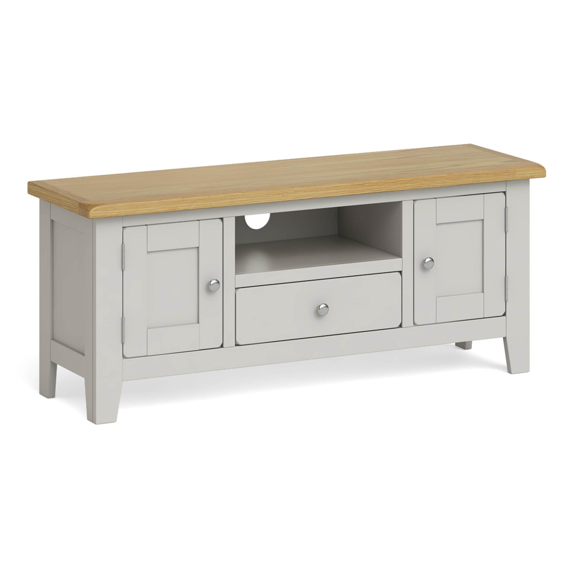 Lundy Grey Large TV Stand by Roseland Furniuture