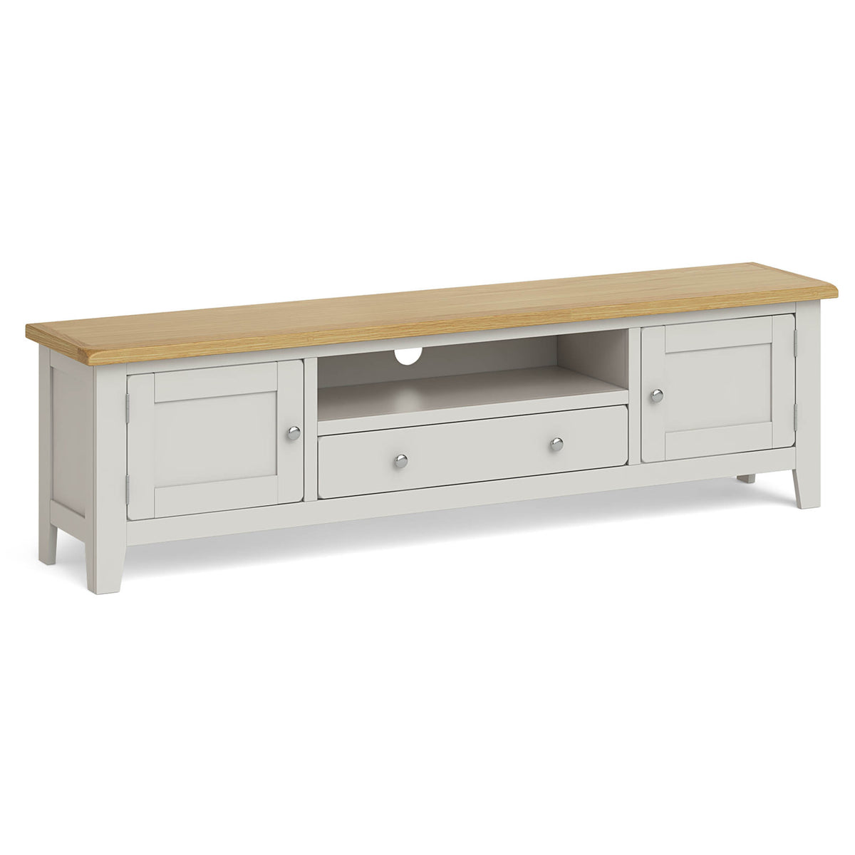 Lundy Grey Extra Large TV Stand by Roseland Furniture
