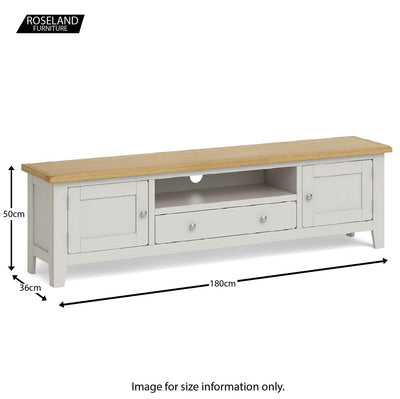Dimensions - Lundy Grey Extra Large TV Stand