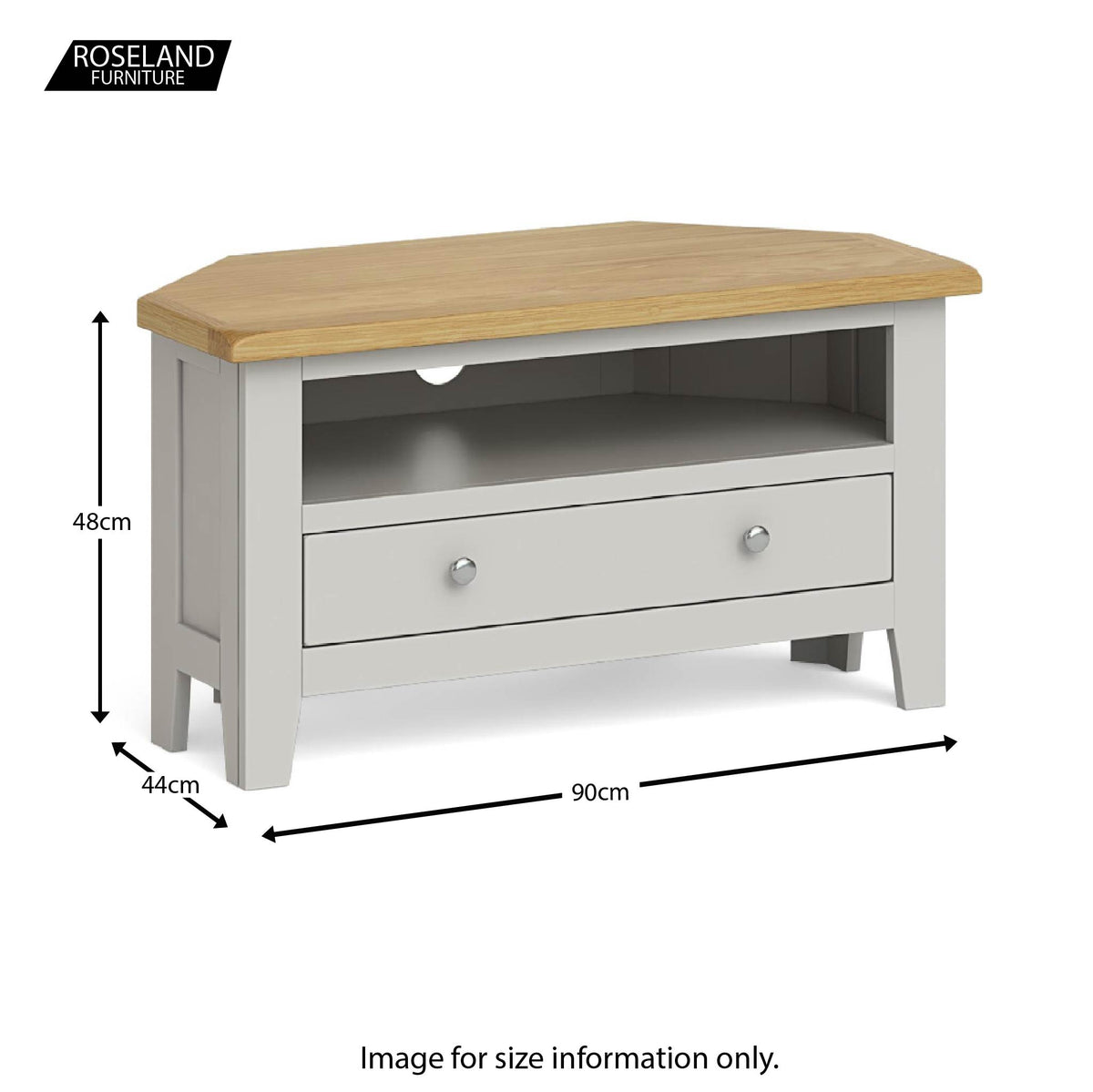 Lundy Grey 90cm Corner TV Stand