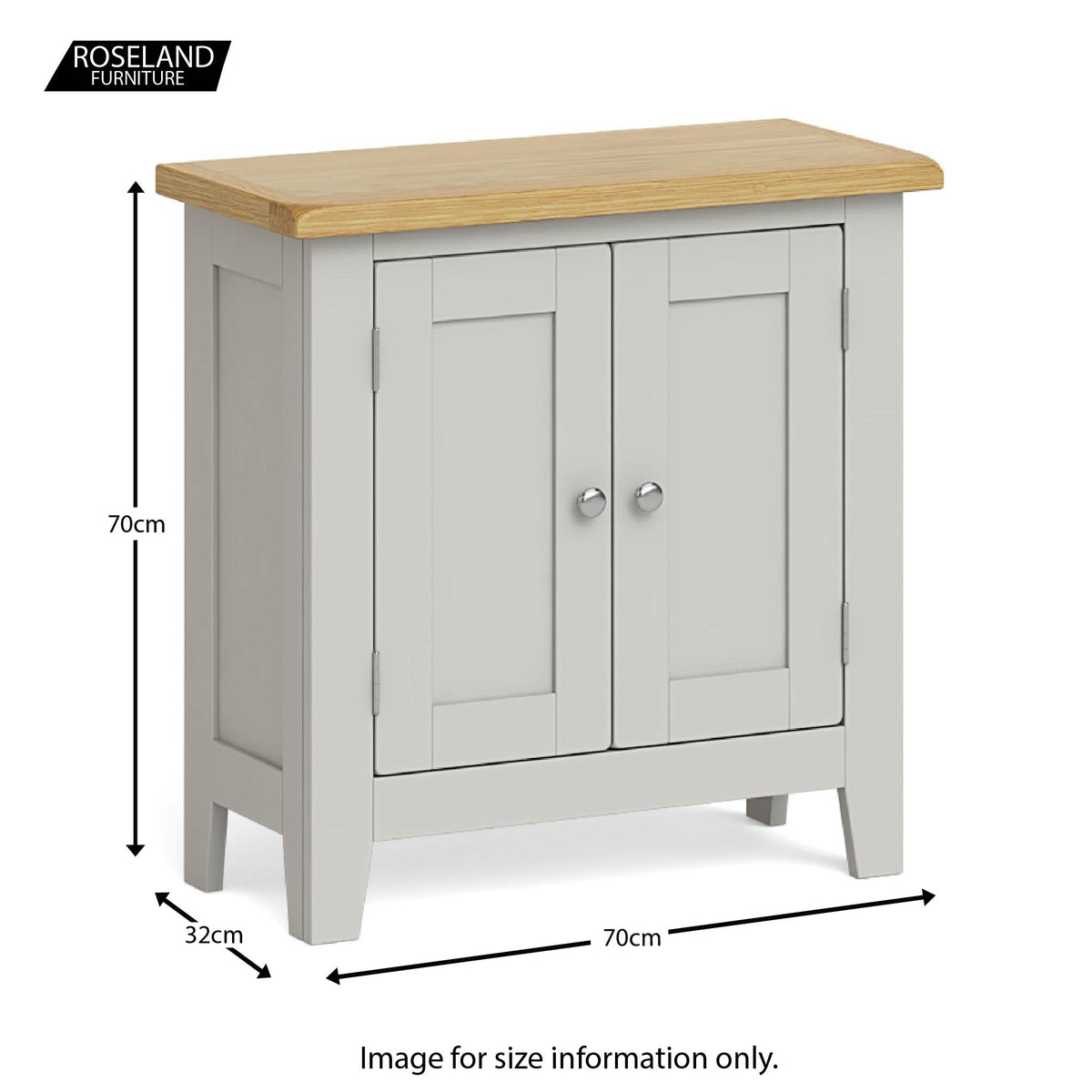 Dimensions - Lundy Grey Mini Cupboard