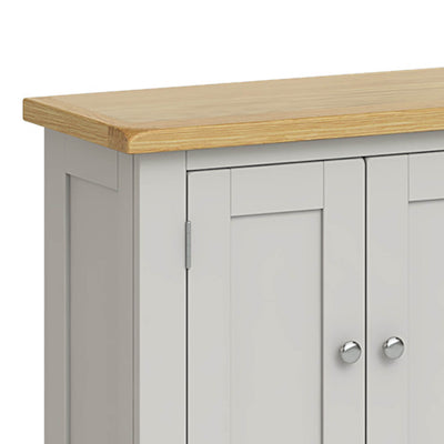 Lundy Grey Mini Cupboard - Close Up of Top