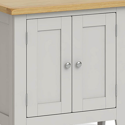 Lundy Grey Mini Cupboard - Close Up of Cupboard