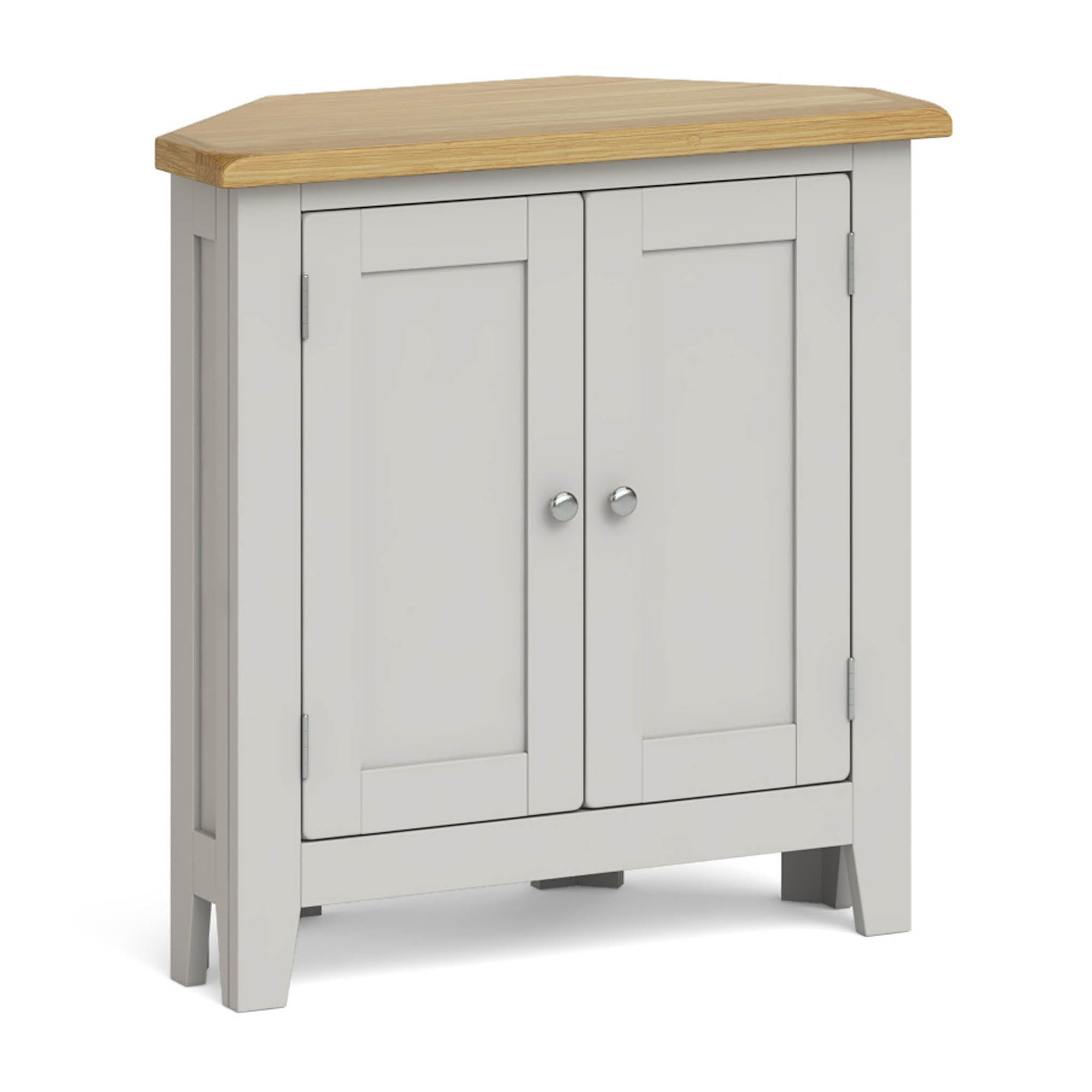 Lundy Grey Small Corner Cabinet by Roseland Furniture