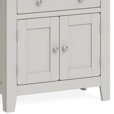 Lundy Grey Mini Sideboard - Close Up of Cupboard