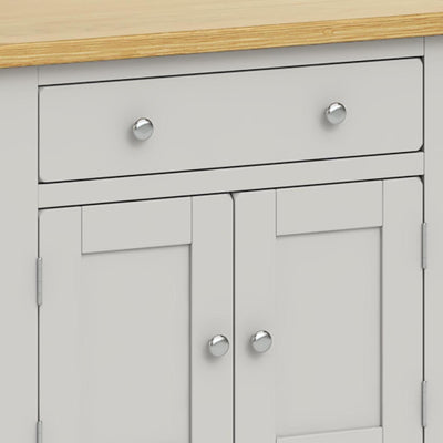 Lundy Grey Mini Sideboard - Close Up of Drawer
