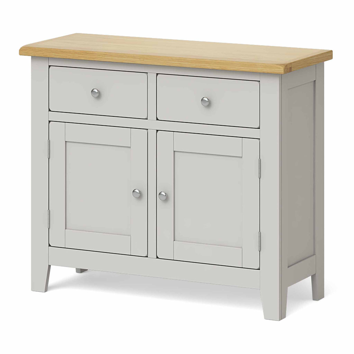 Lundy Grey Small 2 Door Sideboard - Side view