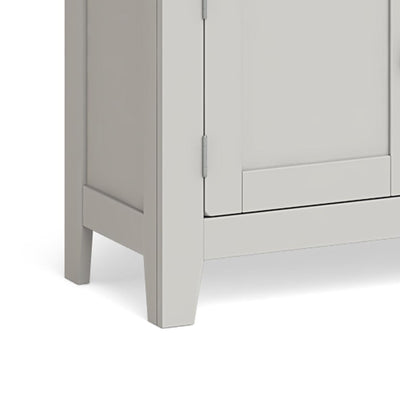 Lundy Grey Small 2 Door Sideboard - Close Up of Feet