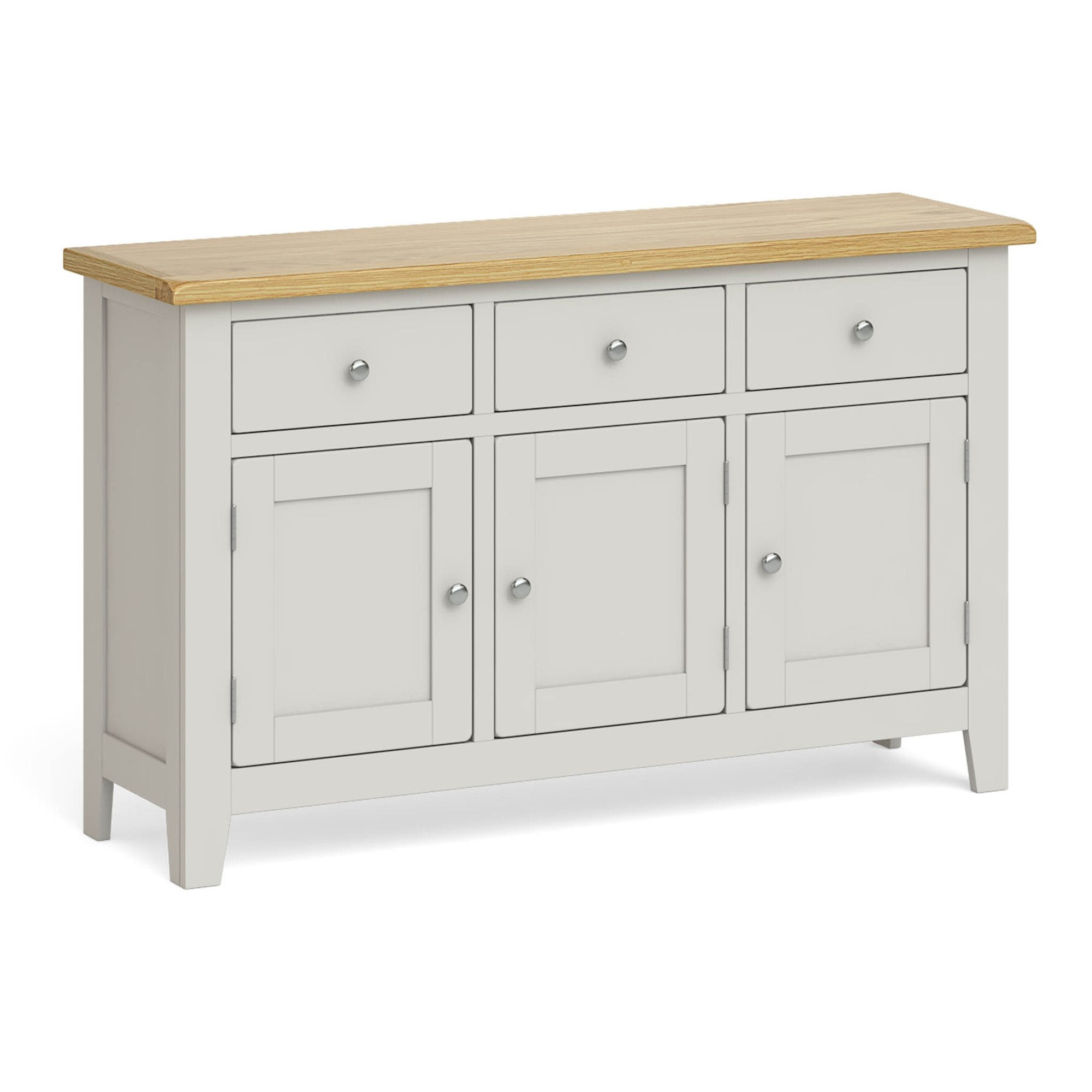 Lundy Grey Large Sideboard Unit by Roseland Furniture