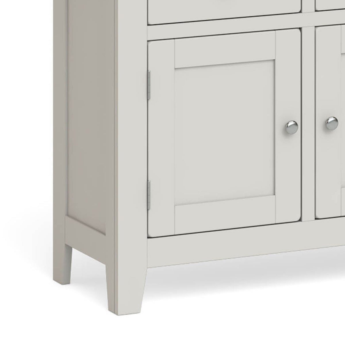 Lundy Grey Extra Large Sideboard Unit - Close up of Cupboard Door